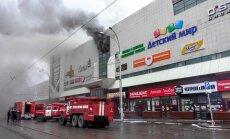 Ugunsgrēkā Krievijā bojā gājuši vismaz 64 cilvēki, pārsvarā bērni