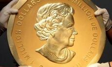 Berlīnē garnadži no muzeja aizstiepuši miljoniem dolāru vērtu milzu monētu