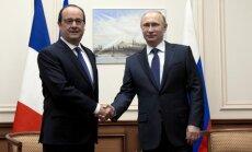 Maskavā tiksies Putins un Olands