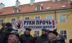 Ceturtdien trešo reizi piketēs pret latviešu valodas apjoma palielināšanu krievu skolās
