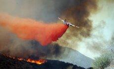 ASV Kalifornijas štatā plosās plašs savvaļas ugunsgrēks