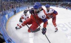Phjončhanas olimpiskās spēles: spēkojas Čehijas un Šveices hokejisti. Teksta tiešraide