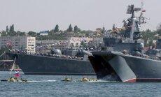 Netālu no Latvijas ūdeņiem manīts Krievijas bruņoto spēku kuģis un zemūdene