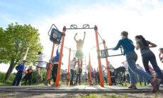 'Olimpiskajā dienā 2017' Rīgā atklās īpaši funkcionālu vingrošanas staciju