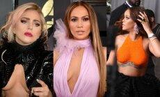 Foto: 'Grammy' ceremonijas krāšņākie dekoltē, stila misēkļi un veiksmes