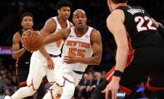 'Knicks' basketbolisti pirms Latvijas simtgadei veltītās spēlēs izcīna uzvaru