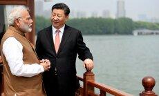 Dzjiņpins un Modi vienojas mazināt spriedzi uz apdzīvotāko valstu robežas