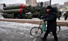 Video: Maskavas centrā izstāda S-300 un 'Pancir' pretgaisa aizsardzības sistēmas