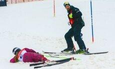 Foto: Kalnu slēpotāju cīņas FIS sacensībās Siguldā