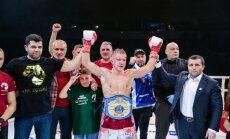 Foto: Latvijas bokseri dominē cīņu šovā 'LNK Boxing Fight Night 6'