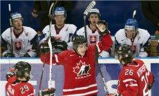 Slovākija kļūst par Latvijas U-20 hokejistu pretinieci cīņā par vietas saglabāšanu pasaules čempionāta augstākajā divīzijā