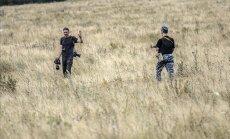 Foto: Nemiernieku kontrolē Ukrainas spēki pārmeklē 'Malaysia Airlines' traģēdijas vietu