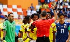Pēc sarkanās kartītes nopelnīšanas Kolumbijas izlases pussargs Sančess saņēmis nāves draudus