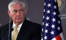 ASV izskata jautājumu par jaunām sankcijām Krievijai, pauž Tilersons