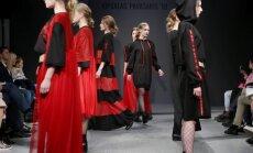 Foto: Zīmīgākie mirkļi un topošo dizaineru veikums modes skatē 'Ķīpsalas pavasaris'