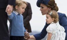 Foto: Britu karaliskais pāris ar bērniņiem ierodas Kanādā