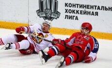 'Jokerit' rekordgarajā Gagarina kausa spēlē piektajā pagarinājumā pārspēj CSKA