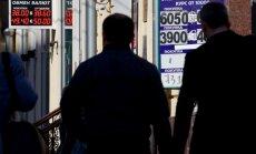 Krievijas rublis sasniedz zemāko rādītāju kopš 1998. gada defolta