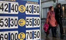 Rubļa kritiens turpinās; Krievija ierobežo valūtas glābšanas pasākumus