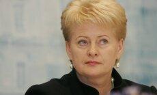 Grībauskaite aicina pagarināt sankcijas pret Krieviju