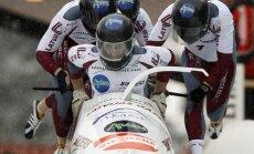 Abas Latvijas bobsleja ekipāžas sešiniekā pēc Eiropas čempionāta pirmā brauciena