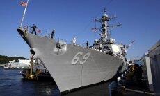 Foto: Pirms Trampa-Kima samita Japānā izvieto iznīcinātāju 'USS Milius'