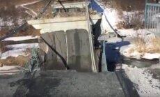 Video: Novoļitovskas rajonā pārlieku smagas tehnikas dēļ sagruvis tilts
