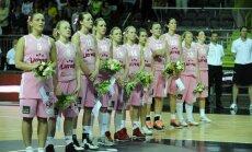 Latvijas basketbolistes pārbaudes spēlē piekāpjas Slovākijai