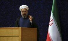 Irānas prezidents: sankcijas jāatceļ 'tajā pat dienā', kad tiks īstenota kodolvienošanās