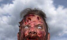 Amerikānim liek aizvākt zombija atveidu no piemājas mauriņa