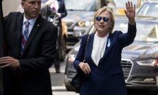 Ārste: Hilarijai Klintonei diagnosticēta pneimonija