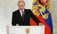 Putins vēstulē Eiropas līderiem brīdina par iespējamiem gāzes piegādes traucējumiem