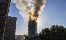 ВИДЕО: в Лондоне открытым пламенем горит жилая высотка, есть жертвы