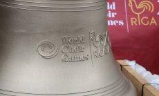 Foto: Pasaules koru olimpiādi ieskandina īpašais Miera zvans