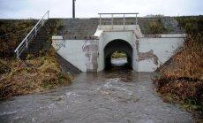 Situācija Ogrē stabilizējusies, ūdens līmenis Ogres upes lejtecē krities