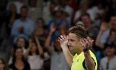 Amerikānis Sandgrens 'Australian Open' turnīrā turpina pārsteigt tenisa pasauli