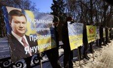 Krimā pieņemas sparā aicinājumi atdalīties no Ukrainas