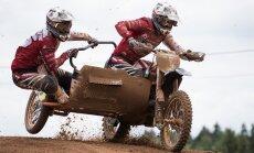 PČ posms motokrosā blakusvāģiem Ķegumā: Daidera un Stupeļa ekipāža izstājas otrajā braucienā
