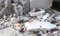 Jeruzalemes ielā Rīgā daļēji sabrukusi piecstāvu ēka
