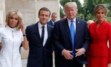 Трамп в Париже посмотрел парад и сделал сомнительный комплимент жене Макрона