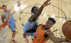 NBA jauno talantu duelī Pasaules komanda sagrauj ASV jaunos censoņus