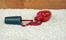Ātrā palīdzība paklājam: kā iztīrīt nagu lakas traipu