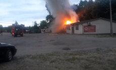 ВИДЕО: В Царникаве загорелась крыша магазина