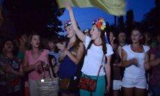 Video: Ar himnu sagaida no ielenkuma atbrīvoto Ukrainas armijas 79. brigādi