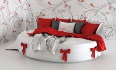 Apaļas formas gultas radošajiem sapņotājiem