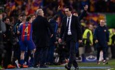 Paris Saint-Germain spanish coach Unai Emery