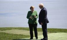 Меркель не поддержала позицию Трампа о возвращении России в G8