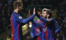 'Barcelona' un Mančestras 'City' iekļūst UEFA Čempionu līgas izslēgšanas spēlēs