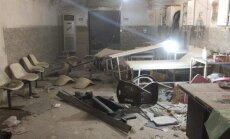 Gaisa triecienā Sīrijā sabombardēta par drošu uzskatīta pazemes slimnīca