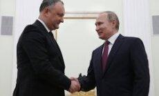 Prokremliskais Dodons cer atcelt Moldovas līgumu ar ES; premjers protestē